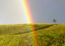 Arcobaleno su colline