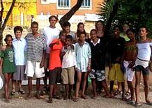 I volontari in visita ai meninos de rua