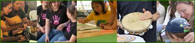 Volontari dell'associazione impegnati nelle varie attività