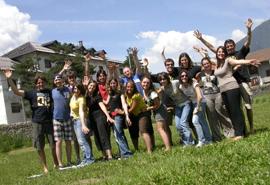 Foto di gruppo del ritiro ad Oulx (TO) 2010